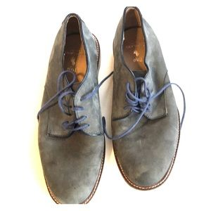 Ralph Lauren polo gray leather oxfords 10 D